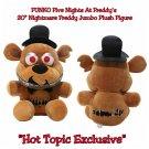 "Funko Five Nights At Freddy's FNAF Nightmare Freddy 20"" Jumbo Plush Figure Hot Topic Exclusive"