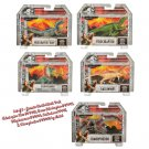 Set of 5 Jurassic World Attack Pack Velociraptor Blue & Green Dilophosaurus Gallimimus Dimorphodon