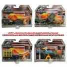 Set of 4 Matchbox Jurassic World Dino Transporters Vehicles & Figures by Mattel
