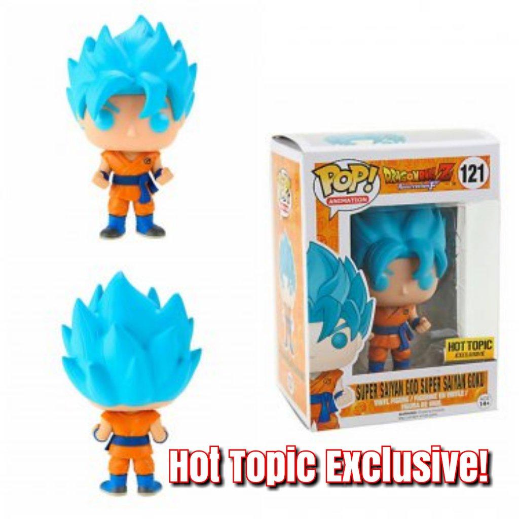 Funko Dragon Ball Z Resurrection 'F' POP! Super Saiyan God Super Saiyan Goku Figure Hot Topic Ex