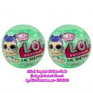 L.O.L. Surprise! Lil Sisters Doll Series 2.2 (Blue Diaper) 5 Layers Mystery Packs by MGA (×2 Balls)