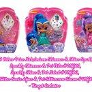 Set of 3 Shimmer & Shine Sparkle Pets Shimmer & Tala, Shine & Nahal, & Afina & Glittercorn Gleam