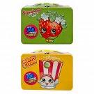 Set of 2 Shopkins Strawberry Kiss & Poppy Corn Collectors Tin