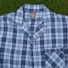 SHIRT ONLY - NEW Hanes Men's Pajama Long Sleeve Woven Plaid Check S Small blue w