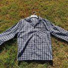 SHIRT ONLY - NEW Hanes Men's Pajama Long Sleeve Woven Plaid Check S Small BLACK