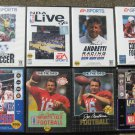 8 game Lot Sega Genesis NFL NBA Football Basketball Soccer racing sports lakers