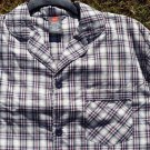 SHIRT ONLY - NEW Hanes Men's Pajama Long Sleeve Woven Plaid Check S Small