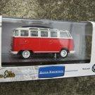 M2 MACHINES AUTO-THENTICS 1960 VW MICROBUS RED White DELUXE EUROPEAN MODEL