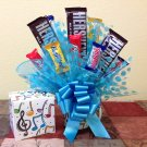 Music Notes Candy Bouquet and Mug