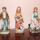 Lot of 3 Ceramic Figurines