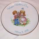 Happy Mother's Day Decorative Plate May 9, 1976 Commemorative Edition Genuine Porcelain