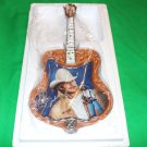 "Alan Jackson Guitar-Shaped Collector Plate with COA ""Where I Come From"""