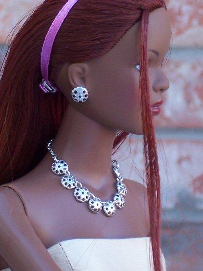 Silver Medallion set - Fashion Doll Jewelry