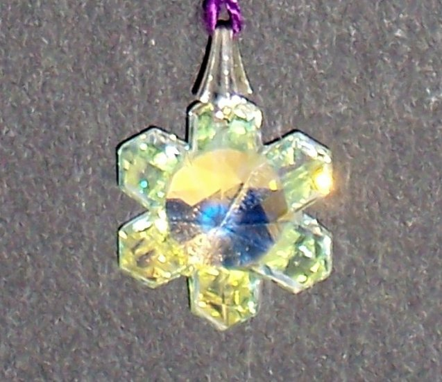 Rainbow suncatcher - Swarovski snowflake