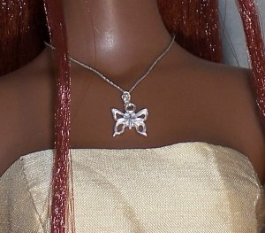 Sterling butterfly pendant - Fashion Doll Jewelry
