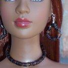 Brown shell choker set - Fashion Doll Jewelry