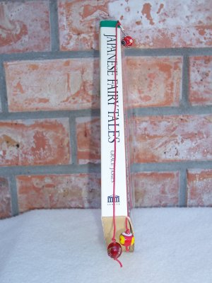 Book Floss - red beaded bookmark