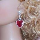 Silver-plate Heart drop earrings - Fashion Doll Jewelry