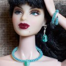 Teal bead drop set - Fashion Doll Jewelry