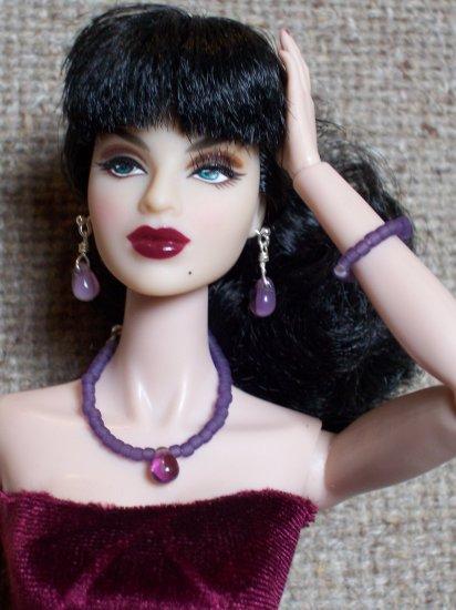 Grape bead drop set - Fashion Doll Jewelry