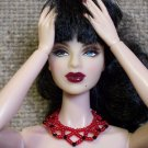 Red netted collar - Fashion Doll Jewelry