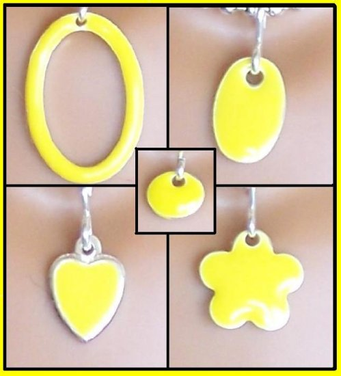 Yellow Easy switch pendant set - Fashion Doll Jewelry