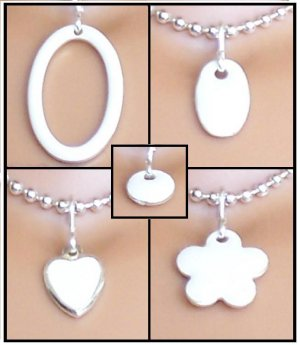White Easy Switch pendant set - Fashion Doll Jewelry