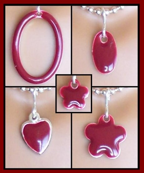 Maroon Easy Switch pendant set - Fashion Doll Jewelry