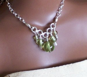 Graduated peridot and sterling - Fashion Doll Jewelry