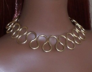 Curled Gold Wire set - Fashion Doll Jewelry