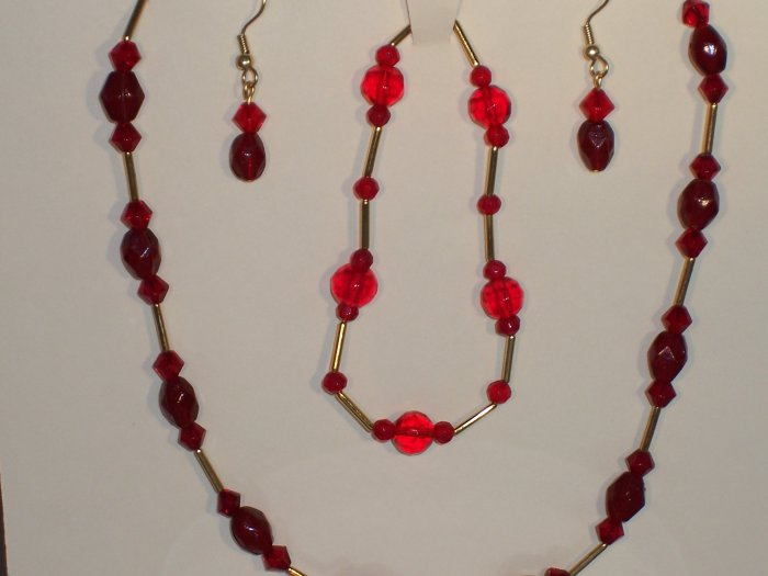 """Red and gold """"Tin Cup"""" style set"""