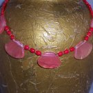 "Cherry ""Quartz"" necklace - gold plate jewelry"