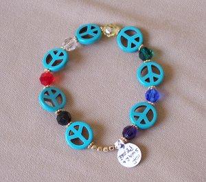 Peace and Faith bracelet - gold
