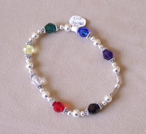 Crystal Colors of Faith - bracelet