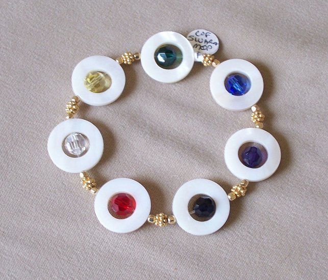Swarovski and shell Colors of Faith - bracelet