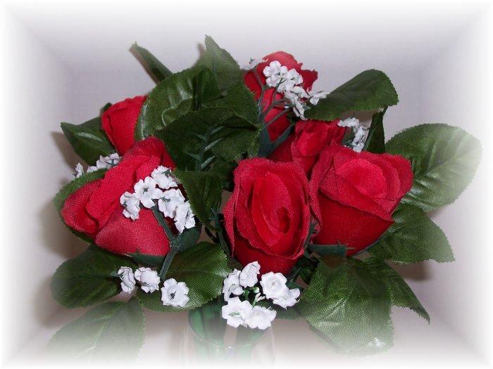 Dozen Red Rose Bud Pens