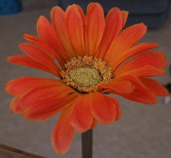 ORANGE-RED Bloomin' Pens - Gerbera Daisy flower pens