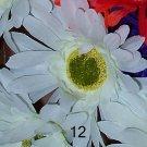 12 WHITE Bloomin' Pens - Gerbera Daisy flower pens