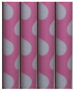 White Polka Dot design - Topped Pens