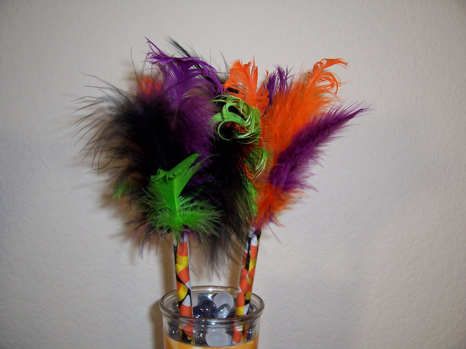 Spooky Pens - set of 5 Halloween Feather pens