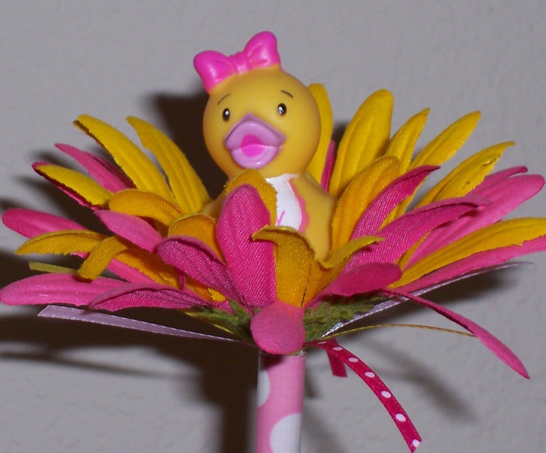 Baby girl ducky Bloomin' Pen - set of 4