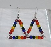 Rainbow Triangle Earrings