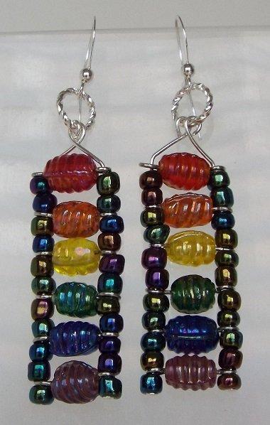 Rainbow Ladder Earrings