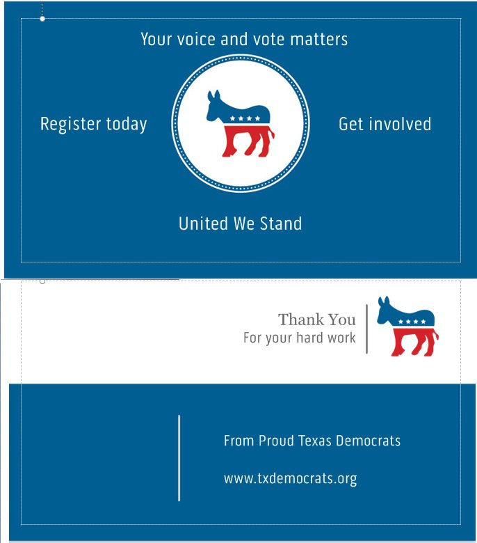 Democratic Thank You Cards (Texas)