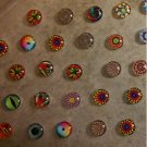 12mm Glass magnets- Dozen assorted