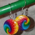 Rainbow MOP Disc Earrings