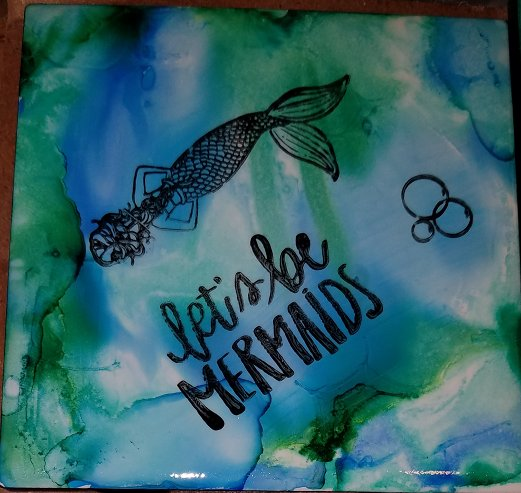 Let's be Mermaids - Set of 4 coasters