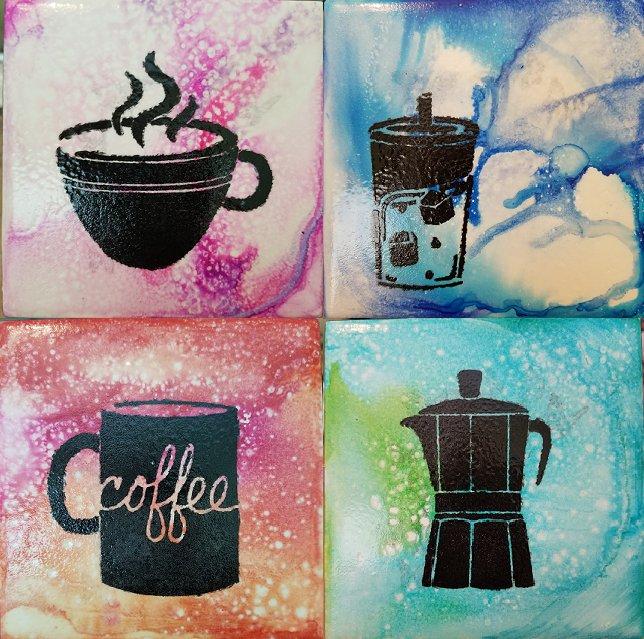 Coffee Coasters - set of 4