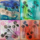 Agapanthus Coasters- Set of 4