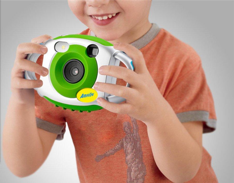 Camera Portable Cute Kid Creative Neck Children Camera Photography Support Video